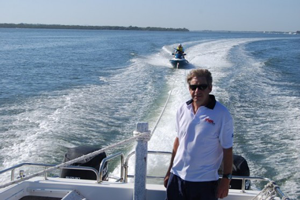 volunteer on vessel