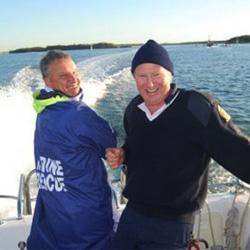 volunteers on boat